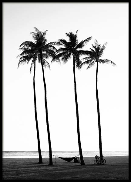 Palm Trees On Beach Poster no grupo Posters  / Natureza em Desenio AB (10233)