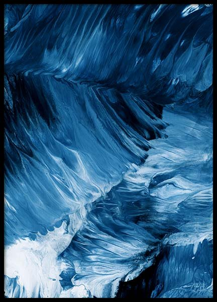 Abstract Waves Poster no grupo Posters  / Arte em Desenio AB (10272)