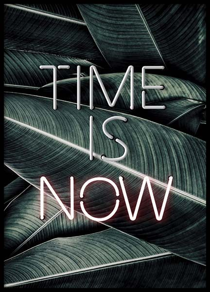 Time Is Now Neon Poster no grupo Posters  / Posters com texto em Desenio AB (10301)