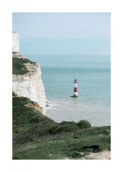 Beachy Head Lighthouse Poster no grupo Posters  / Natureza em Desenio AB (10471)