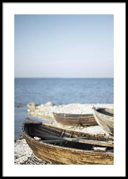 Wooden Boats Poster no grupo Posters  / Natureza em Desenio AB (10476)