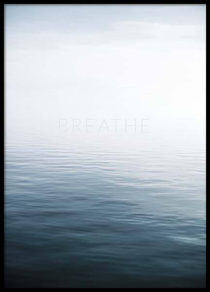 Breathe by the Sea Poster no grupo Posters  / Natureza em Desenio AB (10491)