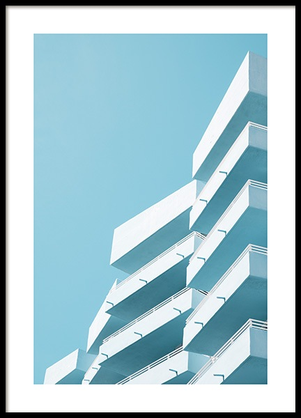 Blue Balconies Poster no grupo Studio / Coast to coast / Studio Miami em Desenio AB (10769)