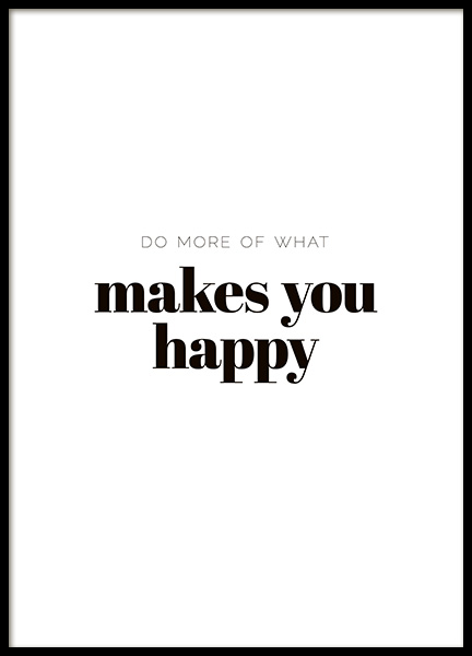 What Makes You Happy Poster no grupo Posters  / Posters com texto em Desenio AB (10907)