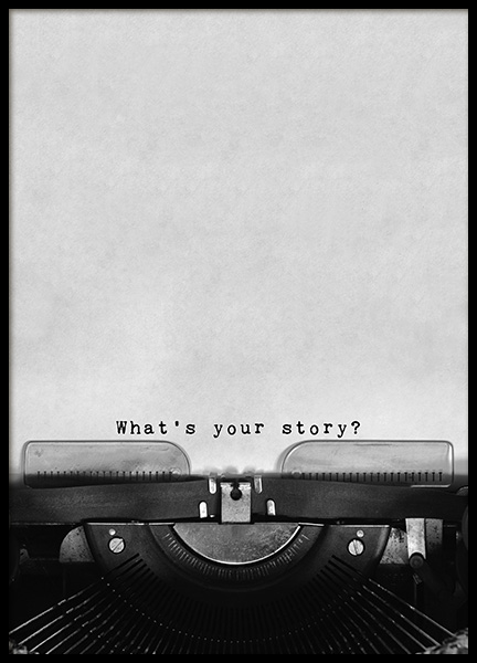 What's Your Story Poster no grupo Posters  / Posters com texto em Desenio AB (11127)