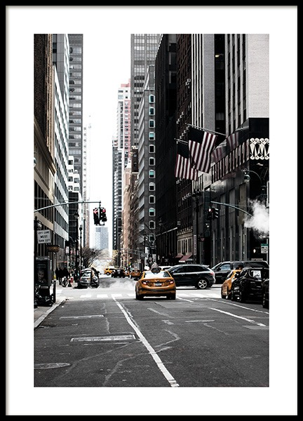 New York Street Poster no grupo Studio Collections / Studio Cosmopolitan / New York em Desenio AB (11326)