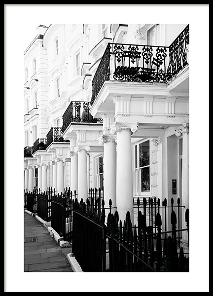 Notting Hill Street Poster no grupo Posters  / Studio Collections / Studio Cosmopolitan / London em Desenio AB (11371)