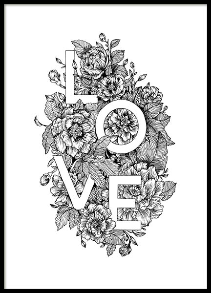 Blooming Love Poster no grupo Posters  / Posters com texto em Desenio AB (11736)
