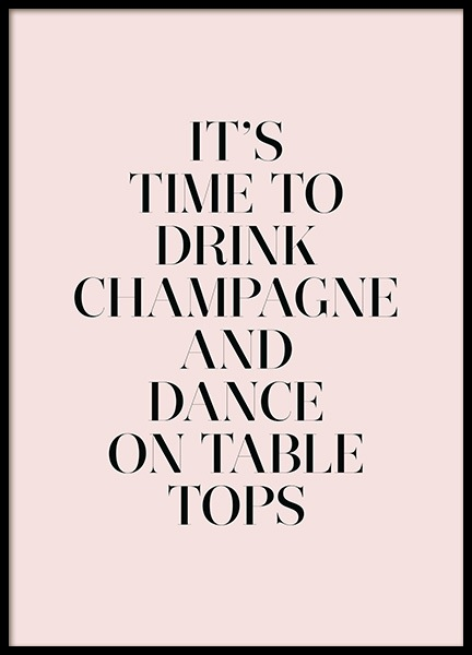 Champagne and Dance Poster no grupo Posters  / Posters com texto em Desenio AB (11909)