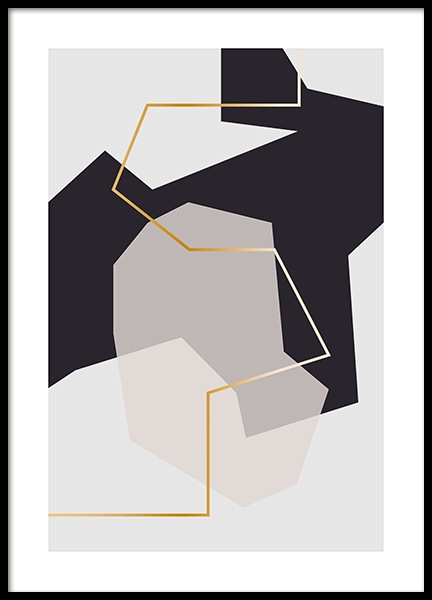 Abstract Fragments No2 Poster no grupo Posters  / Arte em Desenio AB (11997)