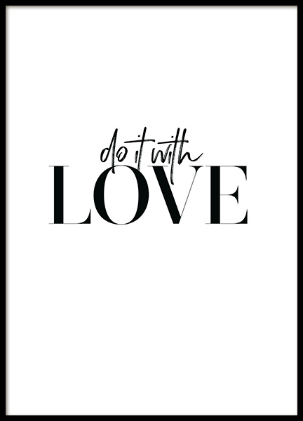 Do it with Love Poster no grupo Posters  / Posters com texto em Desenio AB (12607)