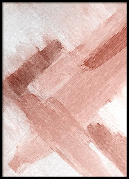 Abstract Painting Pink No2 Poster no grupo Posters  / Arte em Desenio AB (12895)