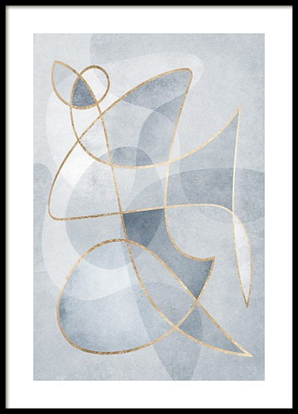 Abstract Blues No1 Poster no grupo Posters  / Arte em Desenio AB (13120)