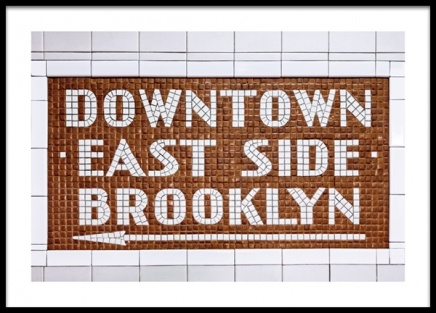 Downtown East Side Sign Poster no grupo Posters  / Posters com texto em Desenio AB (13141)