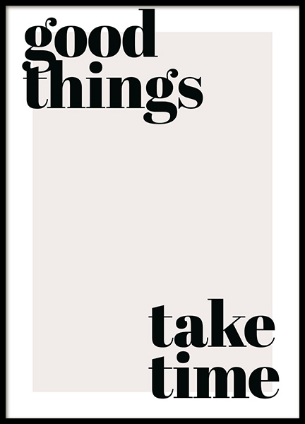 Good Things Take Time Poster no grupo Posters  / Posters com texto em Desenio AB (13187)
