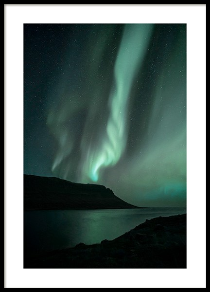 Iceland Northern Lights Poster no grupo Posters  / Natureza em Desenio AB (13232)