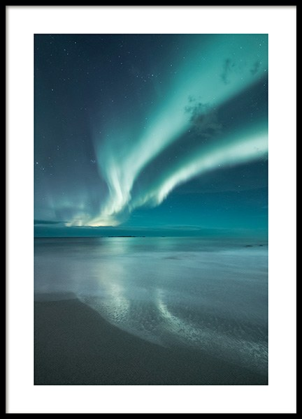 Northern Lights Poster no grupo Posters  / Natureza em Desenio AB (13233)
