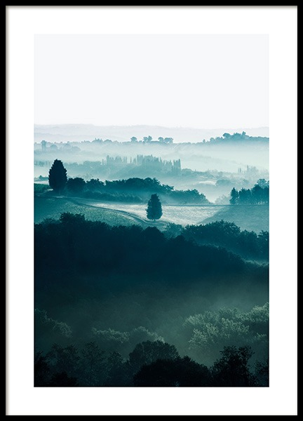 Fields in Tuscany Poster no grupo Posters  / Natureza / Paisagens em Desenio AB (13430)