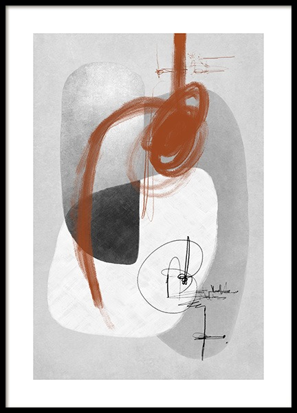 Amber Infused Abstract No2 Poster no grupo Posters  / Arte / Arte abstrata em Desenio AB (13482)