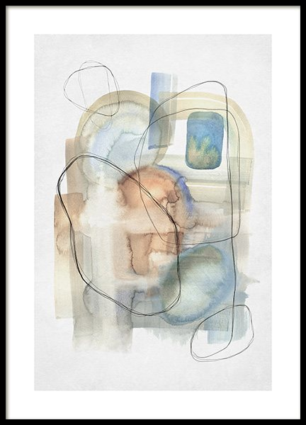 Abstract Calm No2 Poster no grupo Posters  / Arte / Arte abstrata em Desenio AB (13674)