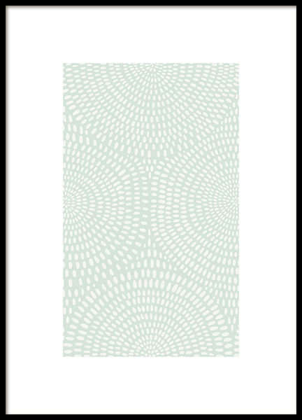Green Dotted Pattern Poster no grupo Posters  / Graficamente em Desenio AB (13975)