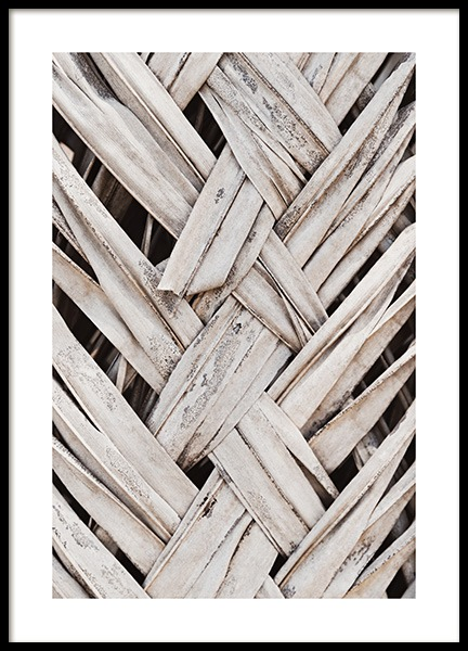 Weaving Palm Leaves Poster no grupo Posters  / Natureza em Desenio AB (13998)