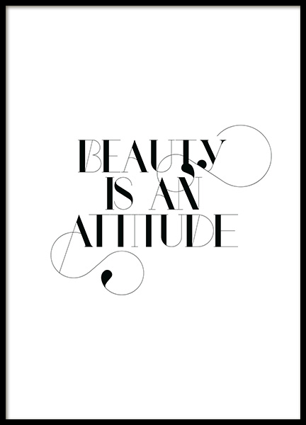 Beauty is an Attitude Poster no grupo  em Desenio AB (14050)