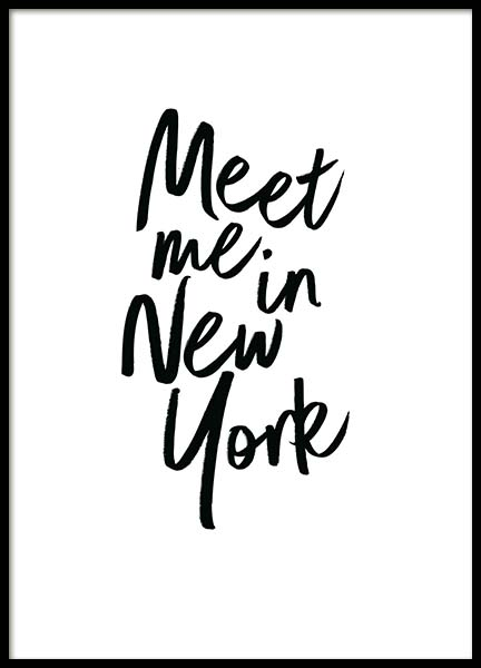 Meet Me In New York Poster no grupo Posters  / Posters com texto em Desenio AB (2254)