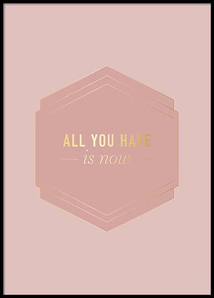 All You Have Pink Poster no grupo Posters  / Posters com texto em Desenio AB (2852)
