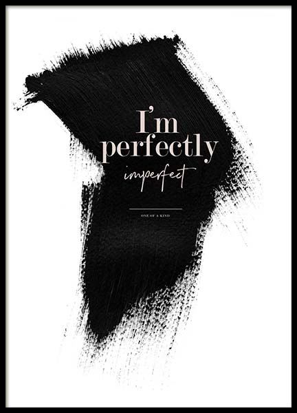Perfectly Imperfect Poster no grupo Posters  / Posters com texto em Desenio AB (3938)