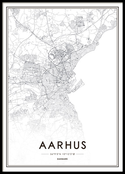 Aarhus Poster no grupo Posters  / Posters com texto em Desenio AB (8270)
