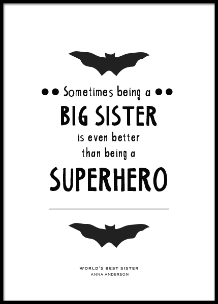 Big Sister Personal Poster no grupo Posters  / Posters personalizados em Desenio AB (pp0004)