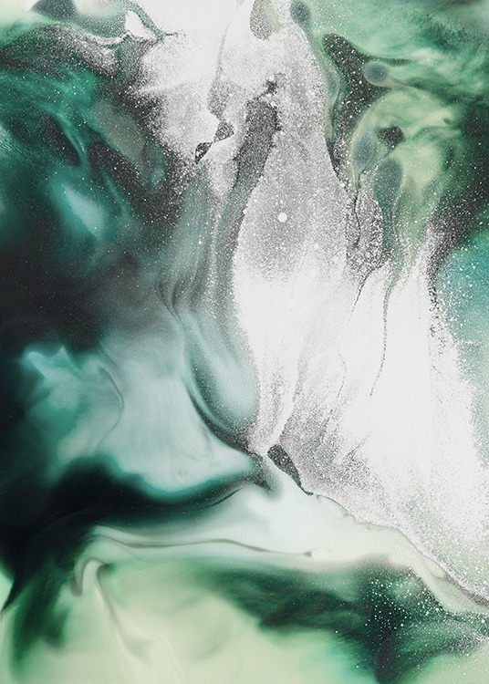 Abstract Green Painting Poster / Arte em Desenio AB (11264)
