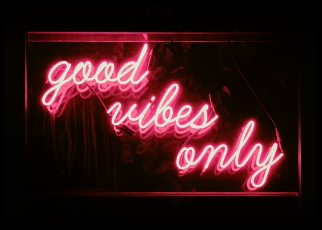 Good Vibes Neon Poster