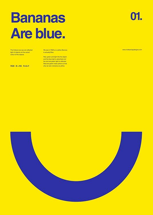 Bananas Are Blue Poster / Graficamente em Desenio AB (2987)