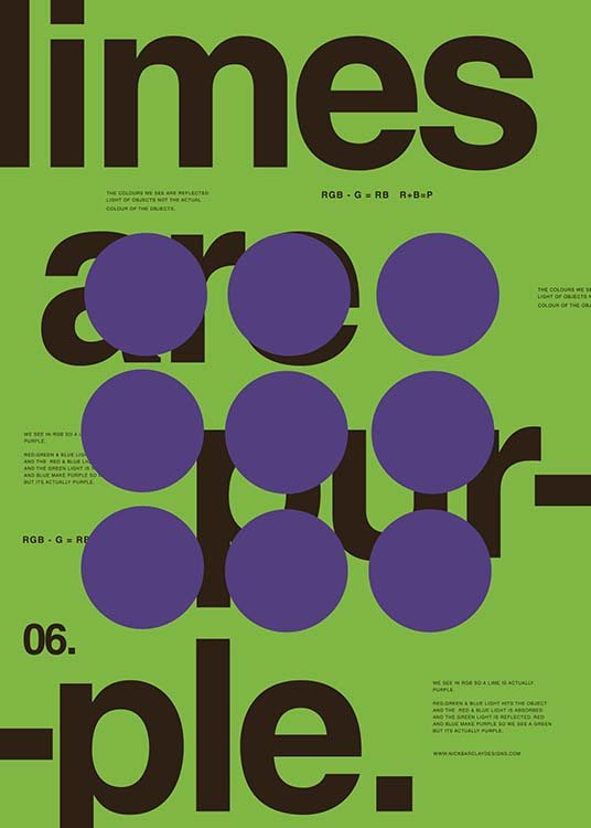 Limes Are Purple Poster / Graficamente em Desenio AB (2989)