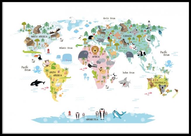 Quadros Para Criancas Com Mapa Do Mundo Quadros Bonitos Posters