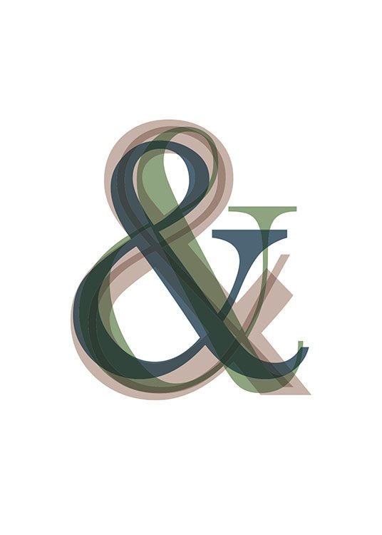 Ampersand Overlay Poster / Posters com texto em Desenio AB (8675)