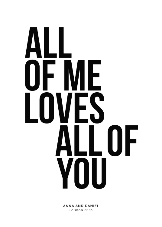 All of Me Personal Poster / Posters personalizados em Desenio AB (pp0001)