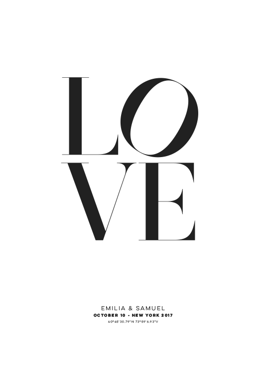 Love Personal Poster / Posters personalizados em Desenio AB (pp0010)